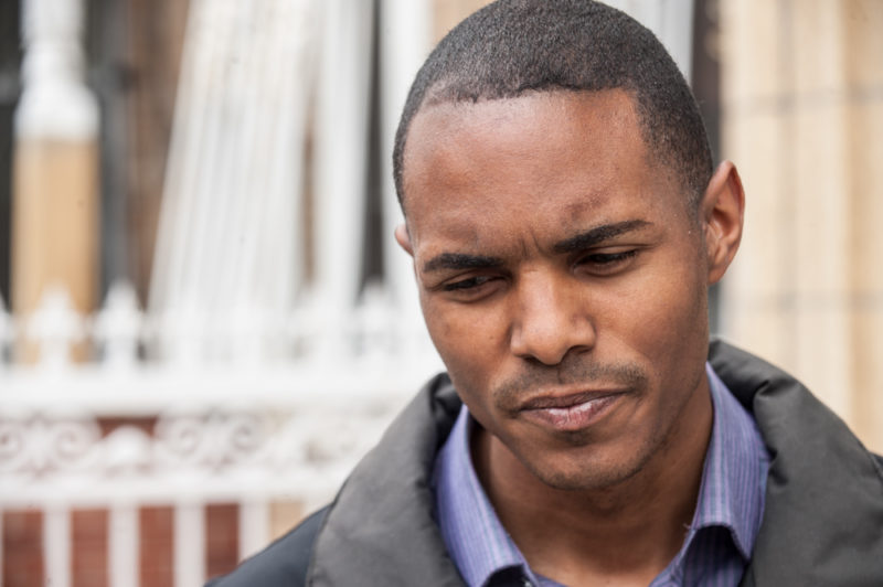City Council Member Ritchie Torres who represents the district where Javier Payne was allegedly pushed through a glass window by the NYPD at his offices in the Bronx on May 24, 2014. (Robert Stolarik for JJIE)