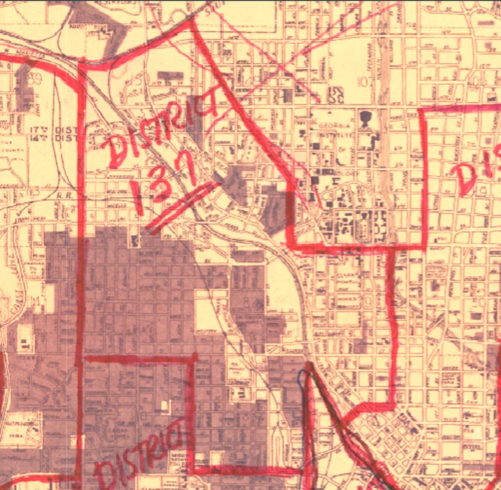 Atlanta Lightning neighborhood historic street map