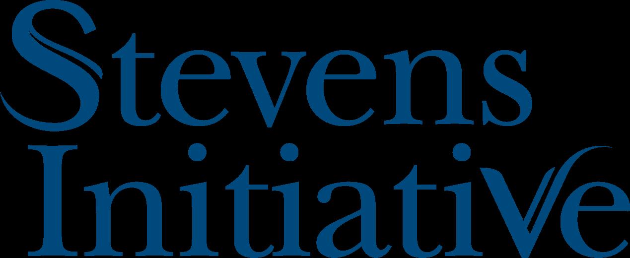 LogoStevens Initiative blue text on white